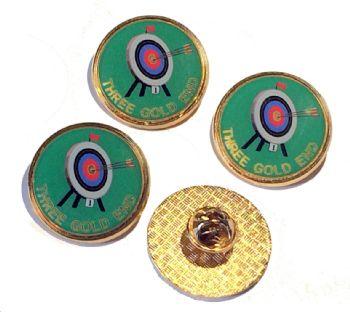 Three Gold End badge